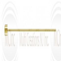 14 K Yellow Gold Flat Head Pin : 24 Guage (Available in 2 Sizes)