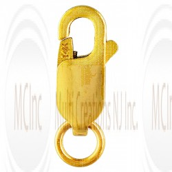 14 K Yellow Gold Oval Shape Lobster Clasp (Available in 4 Sizes)