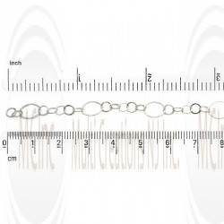 Diamond Cut Flat Round Link Chain : 10 mm with 3 links of 6.25 mm