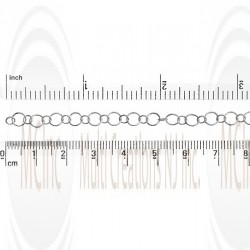 Alternate Round Link Chain :  4.75 and 3.1 mm