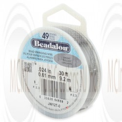Beadalon 49 Strand Wire : 0.024 inch/0.61 mm (Bright) : 30 Feet