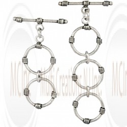 Bali Silver Extender Toggle & Bar : 15 mm (Available in 2 Variations)