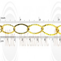 GF Textured Flat Oval Cable Chain : 21x14.2 mm