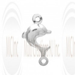 CM103 : Sterling Silver Dolphin Charm - 10 mm