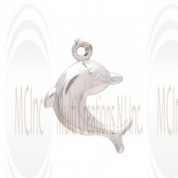 CM105Sterling Silver Dolphin Charm - 15 mm
