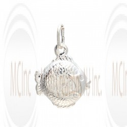 CM116 : Sterling Silver Fish Charm - 18 mm