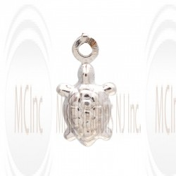 CM121 : Sterling Silver Turtle Charm - 9 mm