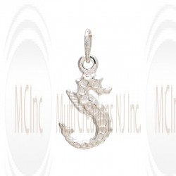 CM131 : Sterling Silver Sea Horse Charm - 24 mm