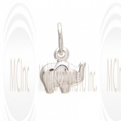 CM142 : Sterling Silver Elephant Charm - 12 mm
