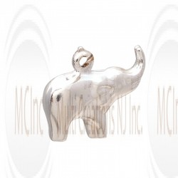 CM143 : Sterling Silver Elephant Charm - 16 mm