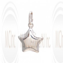 CM222 : Sterling Silver Star Charm - 14 mm