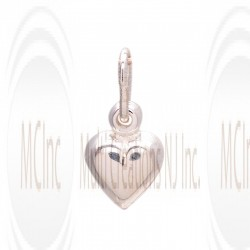 CM252 : Sterling Silver Heart Charm - 9 mm