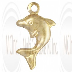 Gold Filled Dolphin Charm 8x11mm