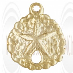 Gold Filled Round Starfish Charm 10mm