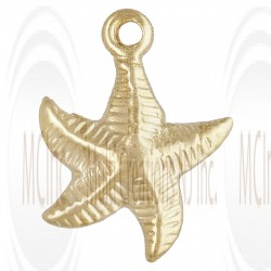 Gold Filled Starfish Charm 10mm