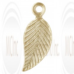 Gold Filled Leaf Charm (Right) 5x10mm