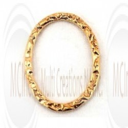 Gold Filled Links : Oval Flat Textured 18x13 mm