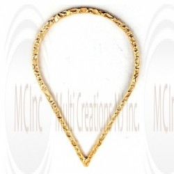 Gold Filled Links : Pear Shape Flat Textured 43x27