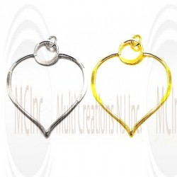 LKH24 : Links/Charms : Heart Shape 24 mm