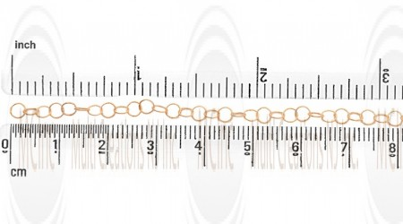 GF Twisted Round Cable Chain : 3.4 mm
